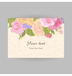 Horizontal romantic greeting card vector image vector image