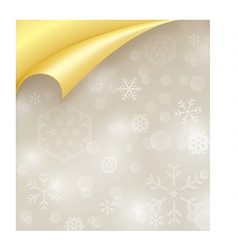 Light Paper with Snowflake Texture and Curled vector image vector image