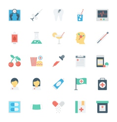 Medical and health colored icons 8 vector
