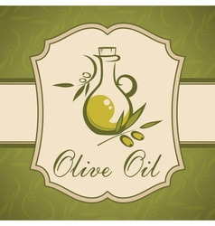 Olive oil Vintage label vector image
