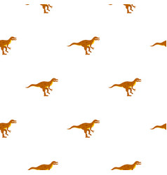 Ornithopod dinosaur pattern seamless vector