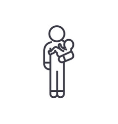 person with baby linear icon sign symbol vector image vector image