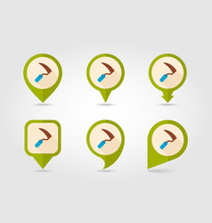 Sickles flat pin map icon vector