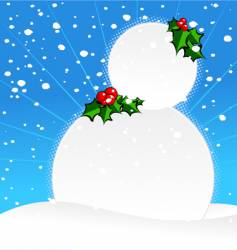 ugly snowman vector image vector image