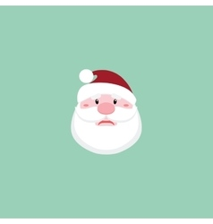 Cute santa claus face vector