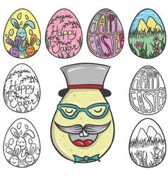 Set os easter egg vector