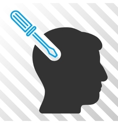 Head surgery screwdriver icon vector