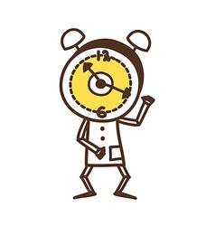 A clock vector image