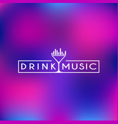 Drink and music logo vector