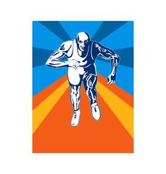 Sprinter Running vector image