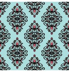 Damask vintage wallpaper seamless background vector