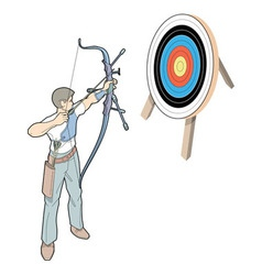 Shot with arrow vector