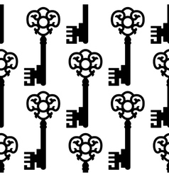 Vintage skeleton keys seamless pattern vector