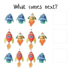 Educational game for children what comes next vector