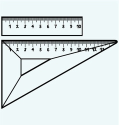 Rulers in millimeters vector image