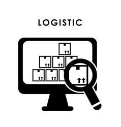 Logistic and box design vector
