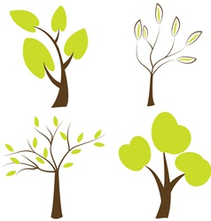 Set of trees icons vector