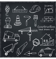 Set of doodle sketch architecture construction vector