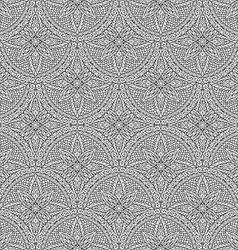 Hand drawn seamless mandala flowers pattern vector image