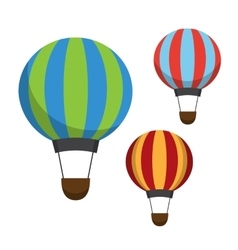 Air balloon icons vector