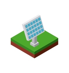 Solar panel icon isometric design graphic vector