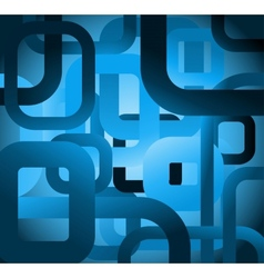 Abstract tile grunge square on blue background vector
