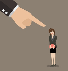 Angry boss being complaining to woman employee vector image