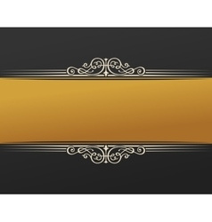 Banner islam ethnic design gold invitation vector