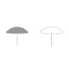 beach umbrella it is icon vector image vector image