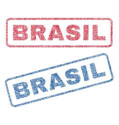 Brasil textile stamps vector