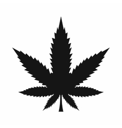 Cannabis leaf icon simple style vector image