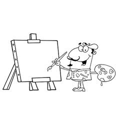 Cartoon artist vector