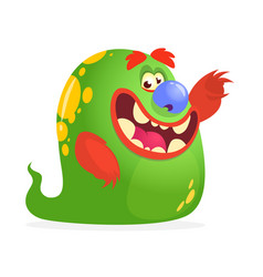 Cartoon green monster vector