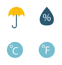 climate forecast weather symbols vector image vector image