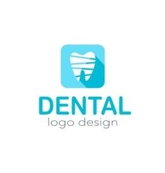 Dental logo design vector image vector image