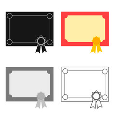 diploma icon cartoon single education icon from vector image