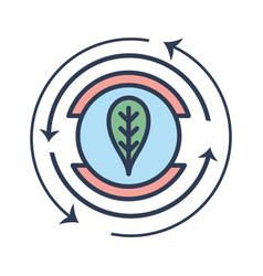 Emblem of leaf symbol to ecology care vector
