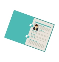 folder with man curriculum vitae vector image