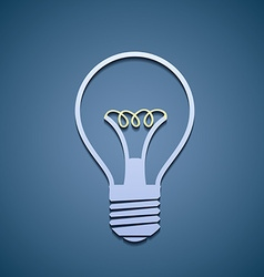 Icon incandescent lamp vector image