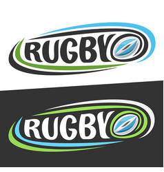 logos for rugby sport vector image vector image