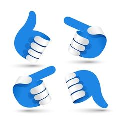 Paper hands vector