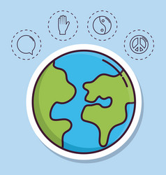 Peace related icons vector