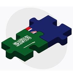 Saudi arabia and cayman islands vector