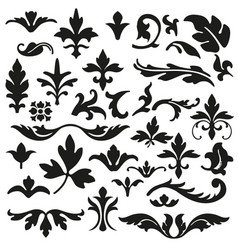 set of flourishes calligraphic elegant ornament ve vector image vector image