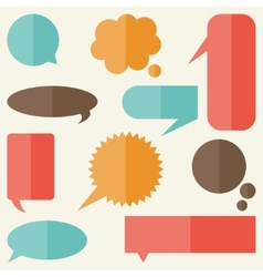 Set of speech bubbles and banners in flat design vector image vector image