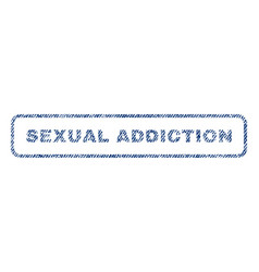Sexual addiction textile stamp vector