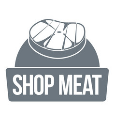 shop meat logo simple style vector image