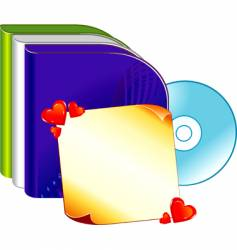 software boxes with note vector image
