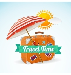Travel Concept Banner Card vector image vector image