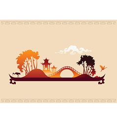 272 asia landscape tray vector image